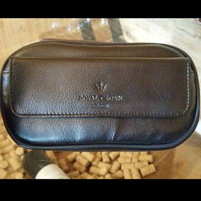 Túi da đựng phụ kiện xì gà Royal Crown